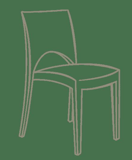 Matériel événementiel dessin chaise