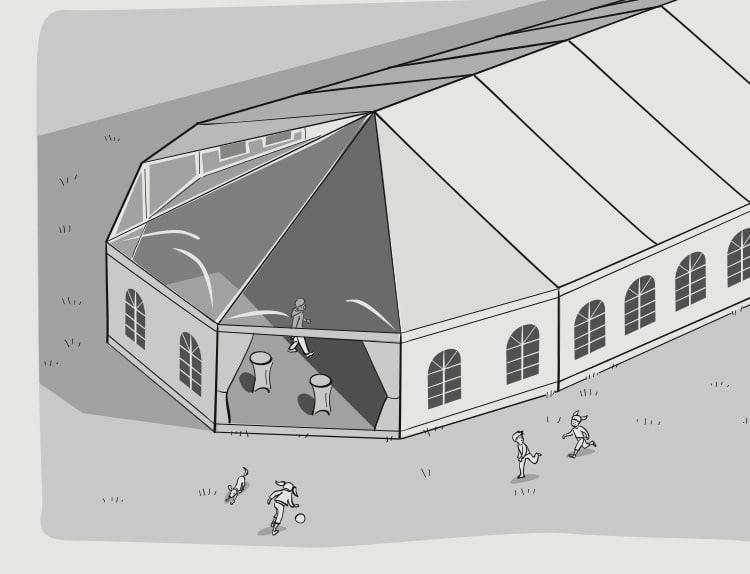 Tentes de réception dessin tente polygonale